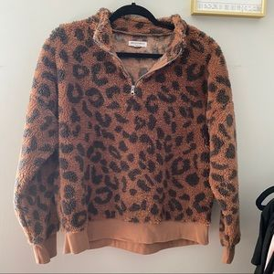 🐆Leopard Fuzzy Pullover